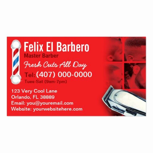 Barber Business Card Template Awesome Barber Business Card Barbershop Pole Clippers