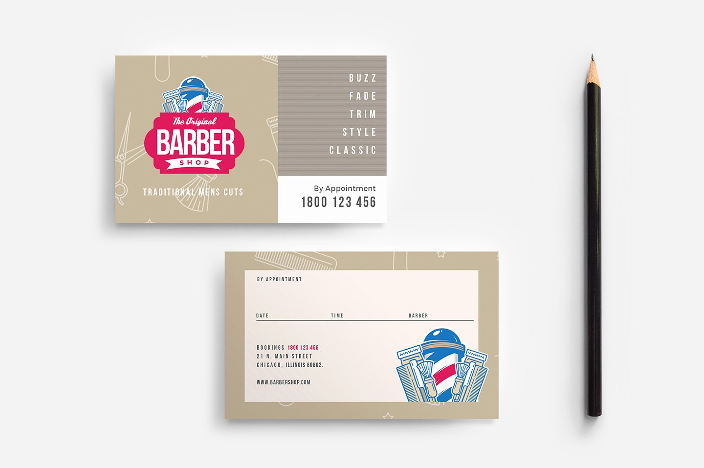 Barber Business Card Template Awesome Barber S Shop Business Card Template In Psd Ai & Vector