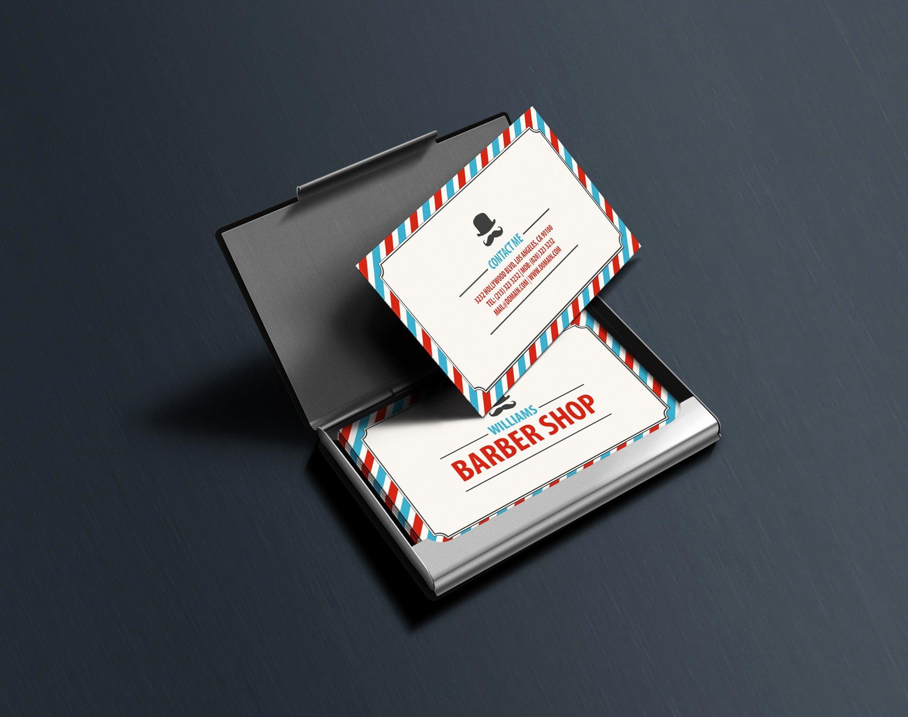 Barber Business Card Template Beautiful Classic Barbershop Business Cards J32 Design