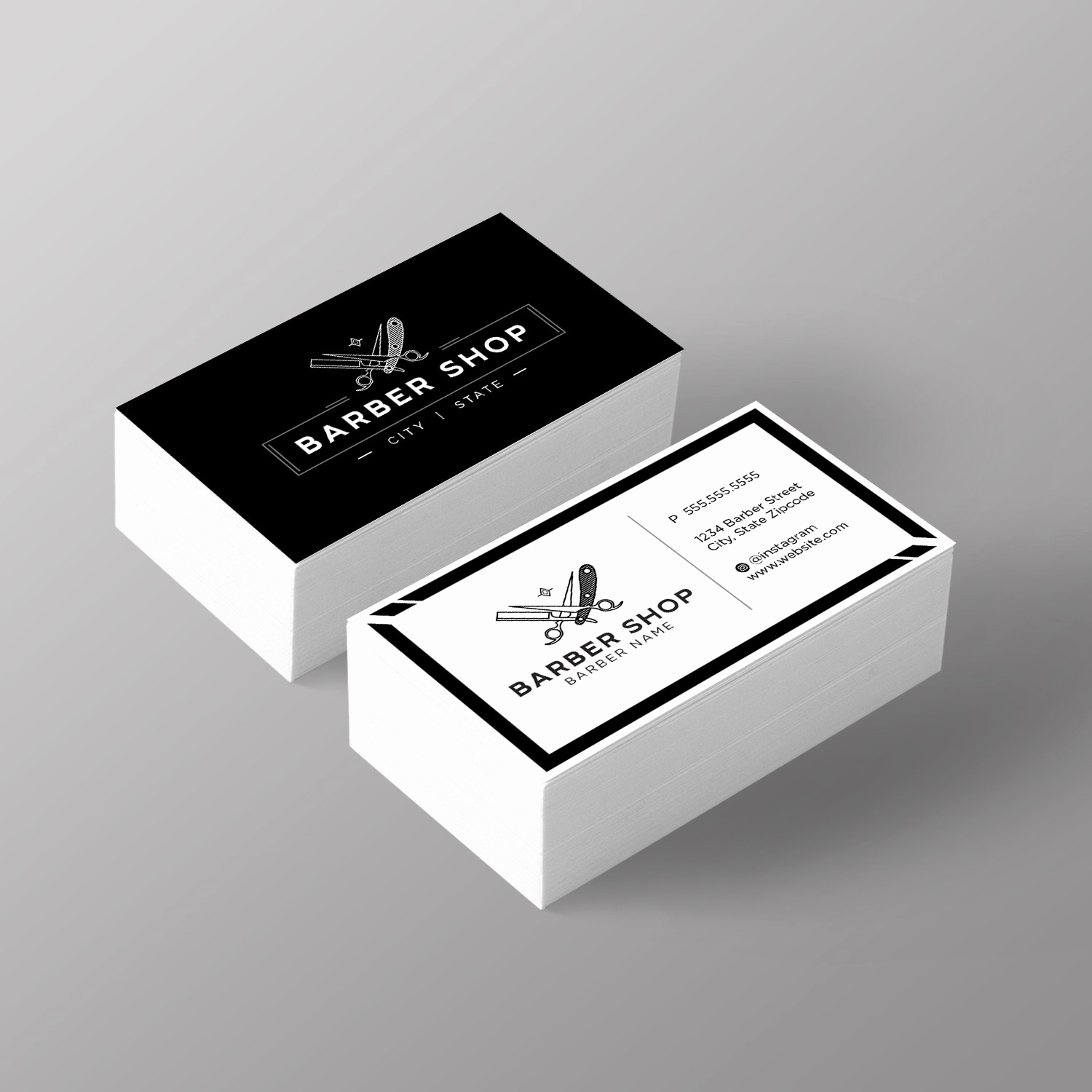Barber Business Card Template Beautiful top 27 Professional Barber Business Cards Tips & Examples