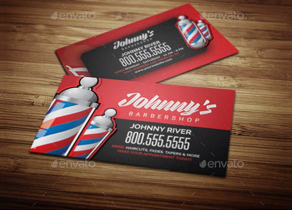 Barber Business Card Template Best Of 27 Barber Business Card Templates Pages Indesign Word