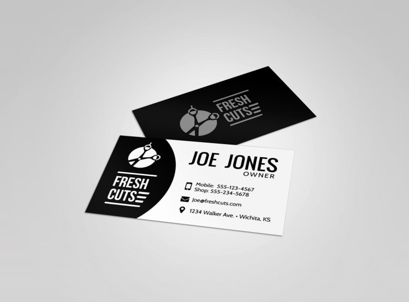 Barber Business Card Template Best Of Black Barber Shop Business Card Template
