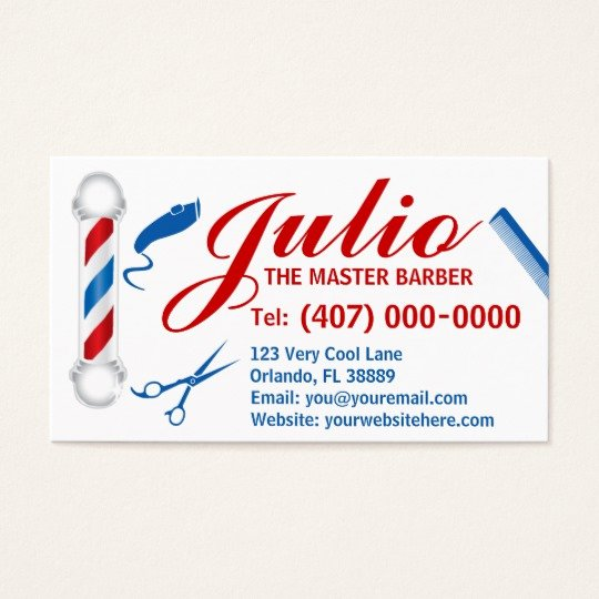 Barber Business Card Template Elegant Barber Business Card Design Customizable Pole