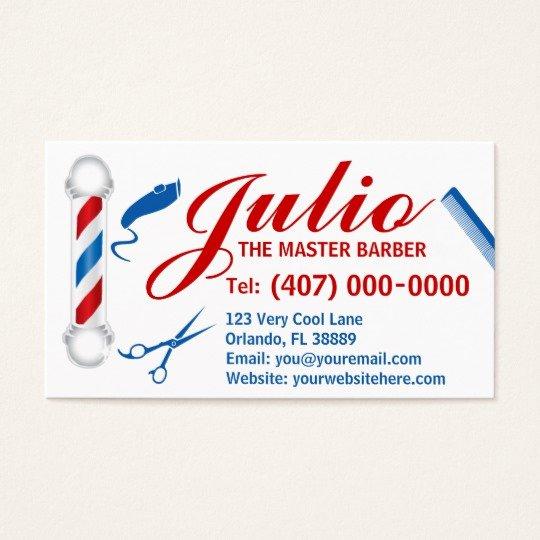 Barber Business Card Template Elegant Barber Business Card Design Customizable Pole