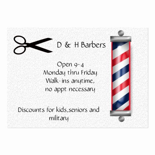 Barber Business Card Template Elegant Barber Business Large Business Cards Pack Of 100
