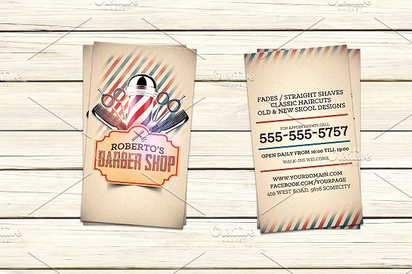 Barber Business Card Template Elegant Barber Shop Business Card Template Business Card