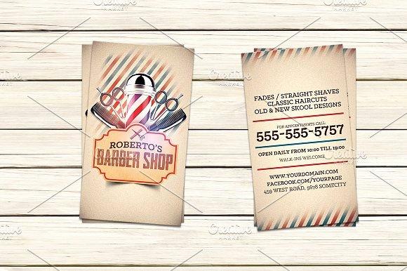 Barber Business Card Template Elegant Barber Shop Business Card Template Business Card