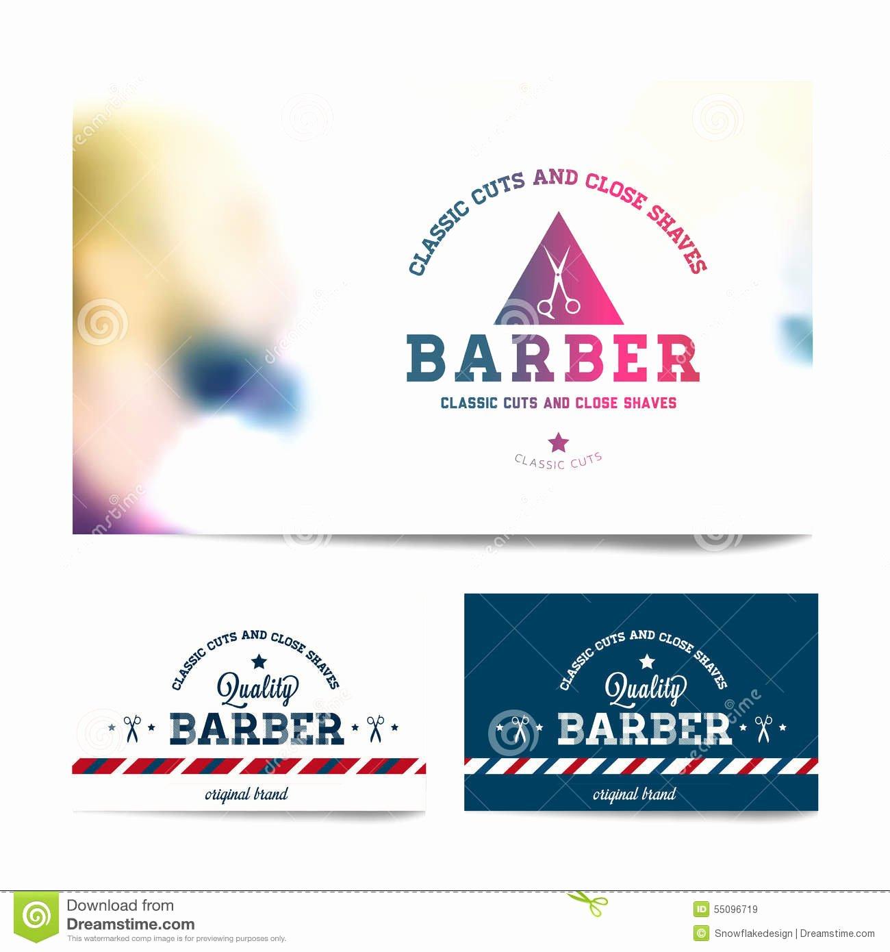 Barber Business Card Template Elegant Barber Shop Business Card Template Stock Vector Image