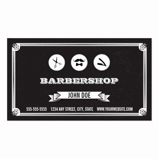 Barber Business Card Template Elegant Barbershop Business Card
