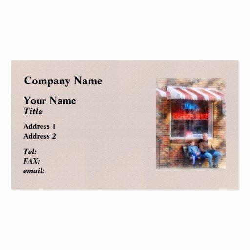 Barber Business Card Template Elegant Neighborhood Barber Shop Business Card Templates