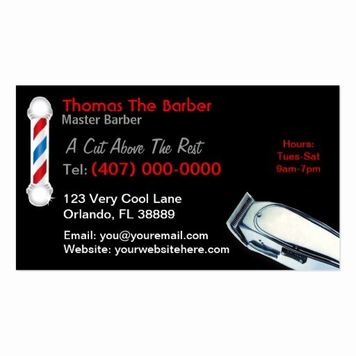 Barber Business Card Template Fresh 105 Barber Pole Business Cards and Barber Pole Business