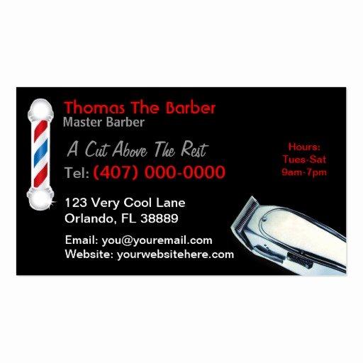 Barber Business Card Template Fresh 105 Barber Pole Business Cards and Barber Pole Business