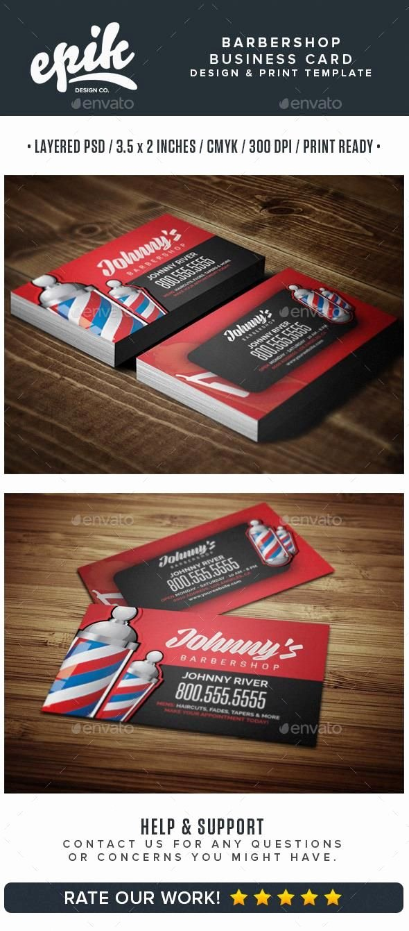 Barber Business Card Template Inspirational Barbershop Business Card Template