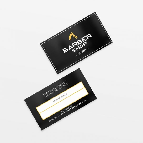 Barber Business Card Template Inspirational Simple Barber Shop Business Card Template