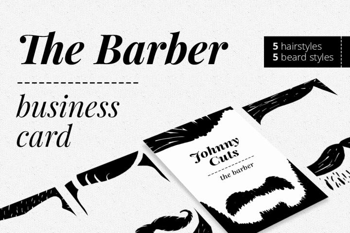 Barber Business Card Template Inspirational the Barber Business Card by Felicity S Creative Shop