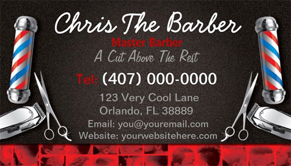 Barber Business Card Template New 27 Barber Business Card Templates Pages Indesign Word