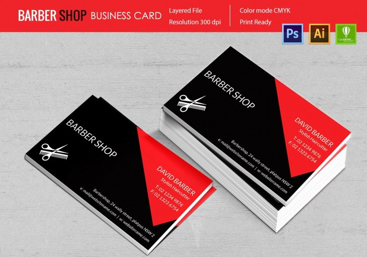 Barber Business Card Template Unique 15 Barber Shop Templates Psd Eps Cdr Vector format
