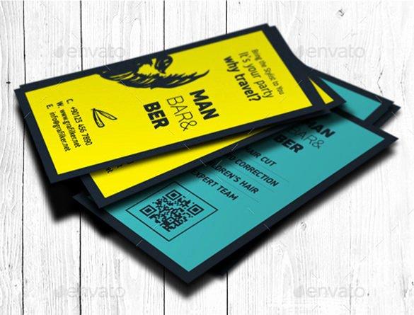 Barber Business Card Template Unique 27 Barber Business Card Templates Pages Indesign Word