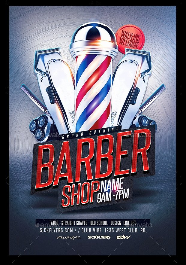 Barber Shop Flyers Template Awesome 27 Barbershop Flyer Template Printable Psd Ai Vector