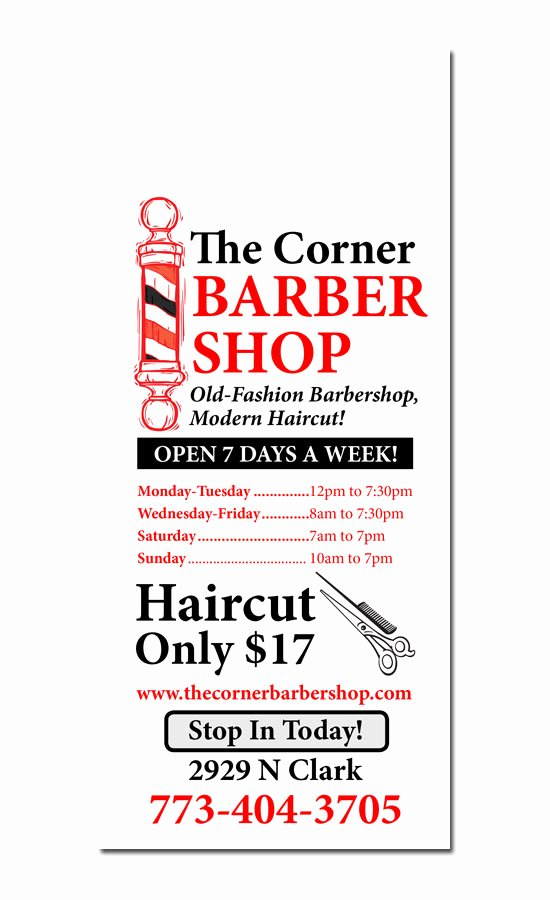 Barber Shop Flyers Template Awesome Barbershop Design Ideas
