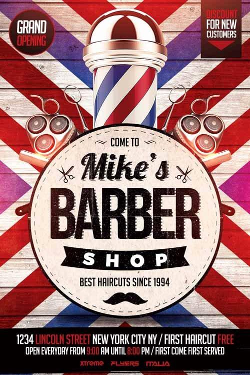Barber Shop Flyers Template Beautiful Barbershop Flyer Template Psd Download Xtremeflyers