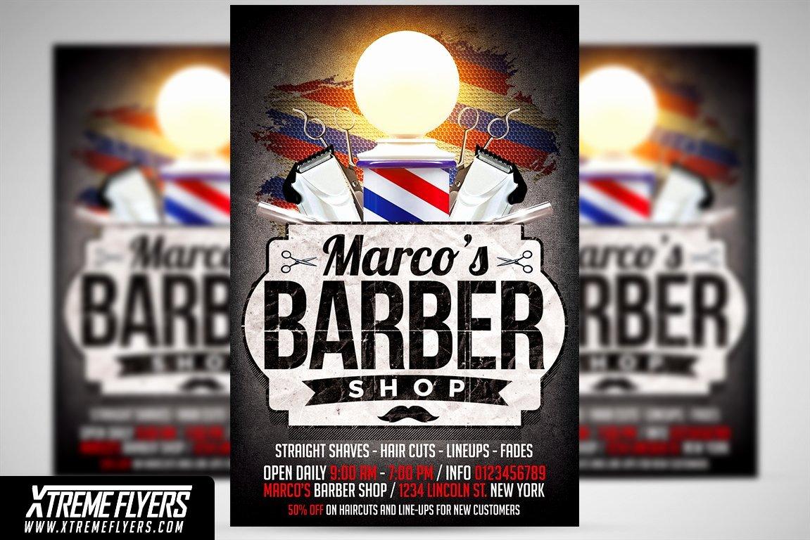 Barber Shop Flyers Template Best Of Barbershop Flyer Template Flyer Templates Creative Market