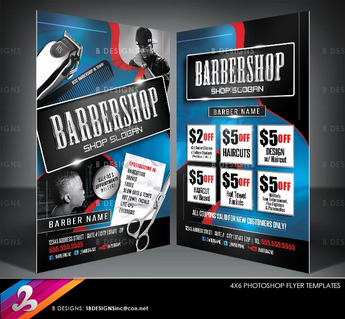 Barber Shop Flyers Template Best Of Barbershop Flyer Templates by Anotherbcreation On Deviantart