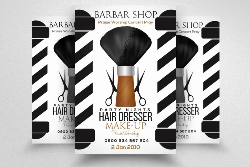 Barber Shop Flyers Template Best Of Clean Barber Shop Flyer Template Psd