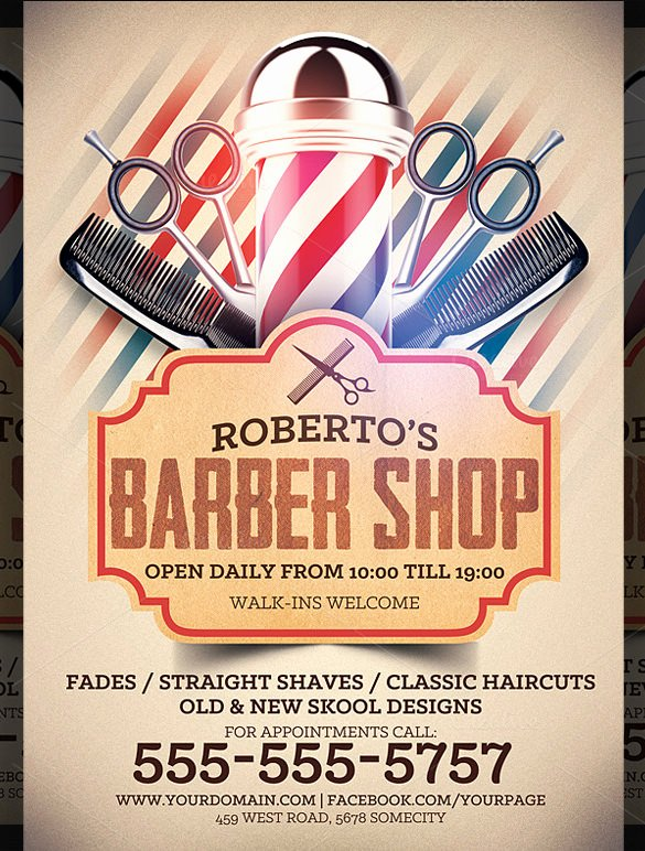 Barber Shop Flyers Template Elegant 22 Best Barbershop Flyer Templates & Designs Psd Ai