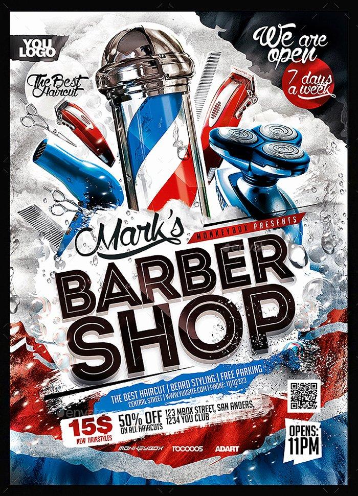 Barber Shop Flyers Template Elegant 24 Barbershop Flyer Psd Templates Free & Premium Designyep