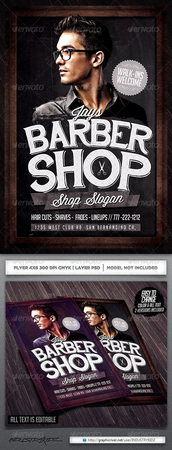 Barber Shop Flyers Template Elegant Barbershop Flyer Template