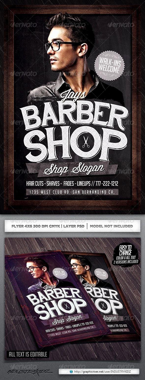 Barber Shop Flyers Template Elegant Barbershop Flyer Template