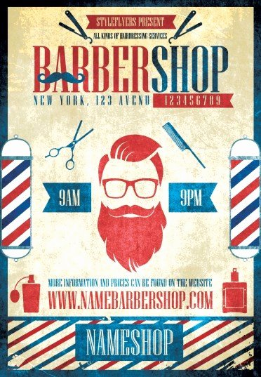 Barber Shop Flyers Template Elegant Barbershop Night Psd Flyer Template 6603 Styleflyers