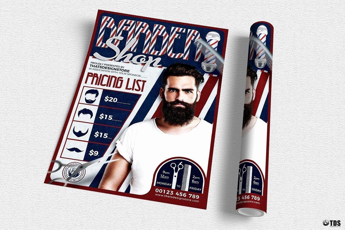 Barber Shop Flyers Template Elegant Download Barber Shop Flyer Template Psd for Photoshop