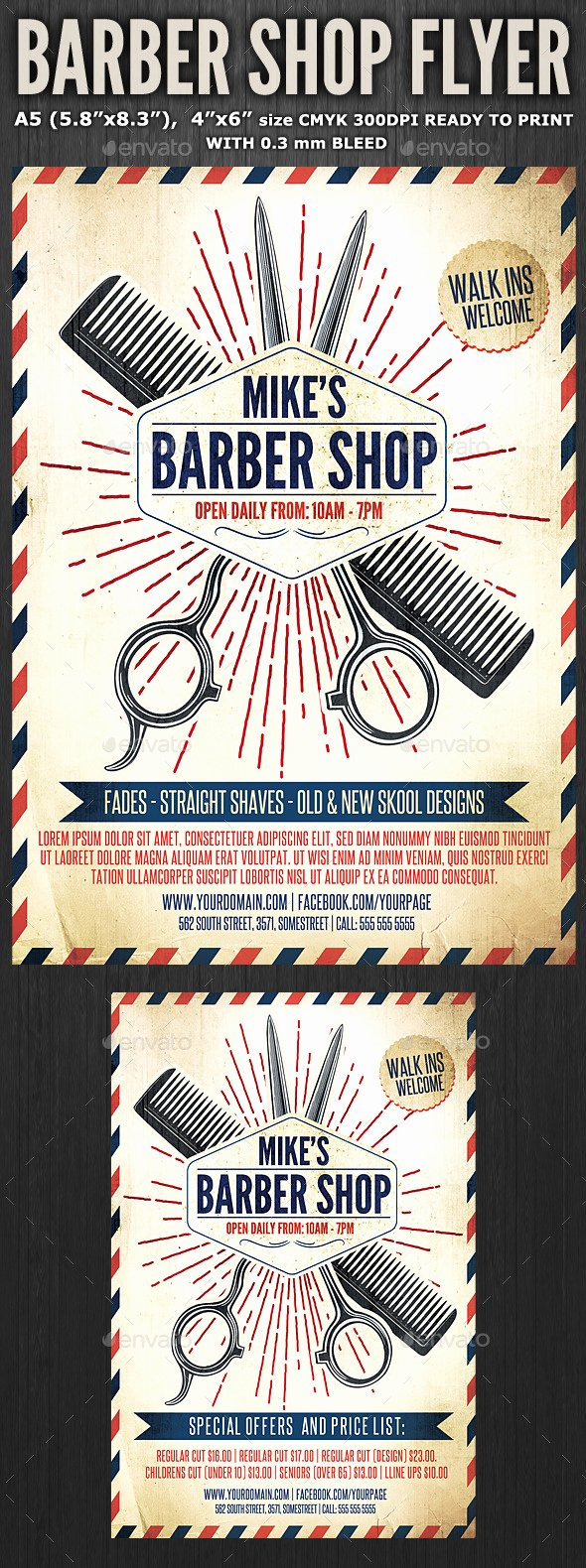 Barber Shop Flyers Template Fresh Barber Shop Flyer Template 3 by Hotpin