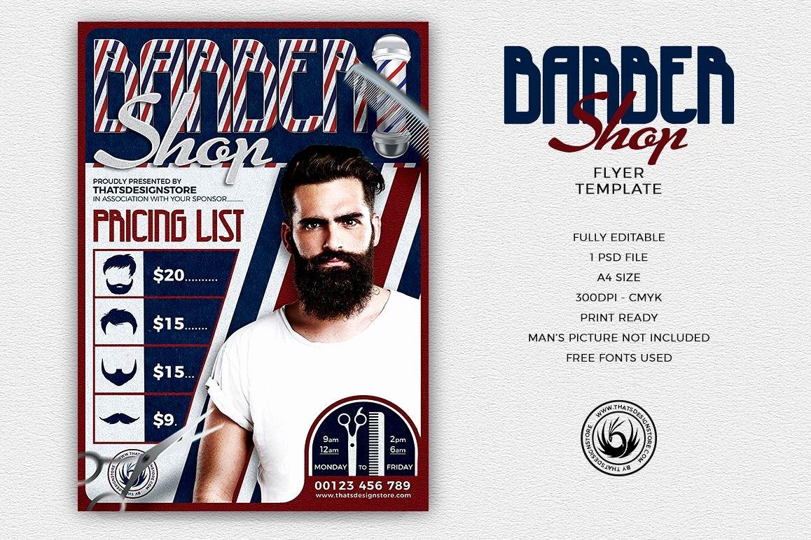 Barber Shop Flyers Template Fresh Barber Shop Flyer Template