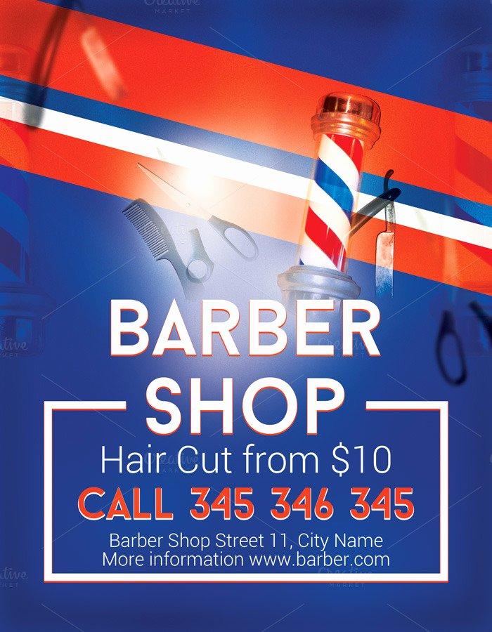 Barber Shop Flyers Template Fresh Modern Barber Shop Flyer Flyer Templates On Creative Market