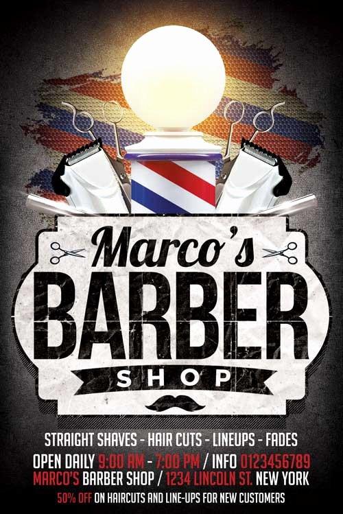 Barber Shop Flyers Template Fresh Xtremeflyers Business Flyer Templates