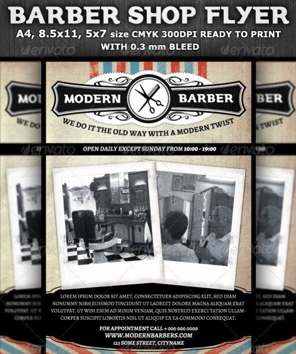 Barber Shop Flyers Template Inspirational 75 Free Flyer Templates Shop Psd Download