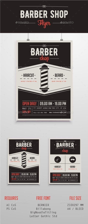 Barber Shop Flyers Template Inspirational Barber Shop Flyer