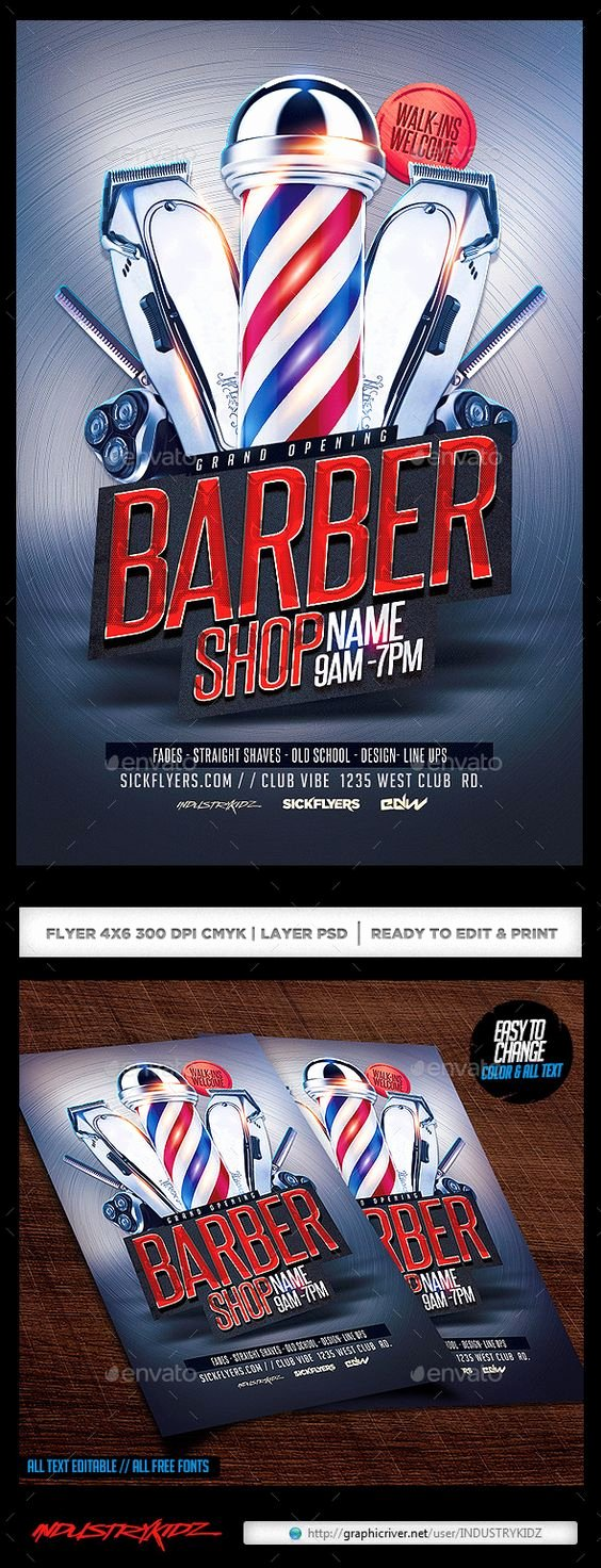 Barber Shop Flyers Template Inspirational Barbershop Flyer