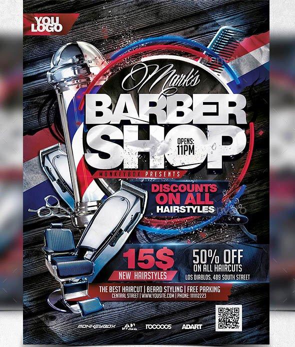 Barber Shop Flyers Template Lovely 14 Cool Flyers Templates for Barbershop – Desiznworld