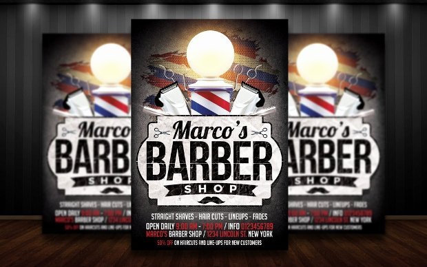 Barber Shop Flyers Template Lovely 27 Barbershop Flyer Template Printable Psd Ai Vector
