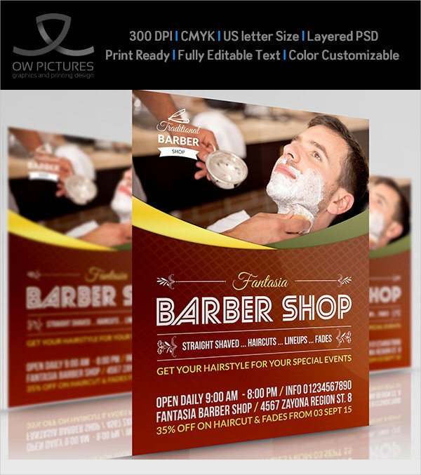 Barber Shop Flyers Template Lovely 27 Barbershop Flyer Templates Free & Premium Download