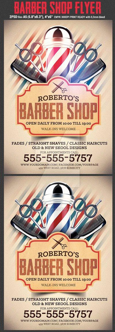 Barber Shop Flyers Template Lovely Barber Shop Flyer Template by Hotpindesigns On Deviantart