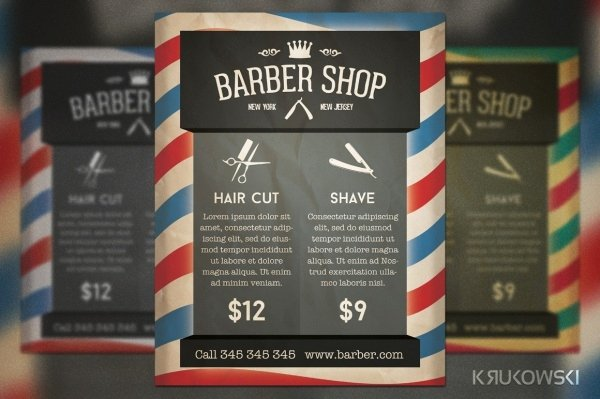 Barber Shop Flyers Template Luxury 28 Creative Barbershop Flyer Designs Word Psd Ai Eps