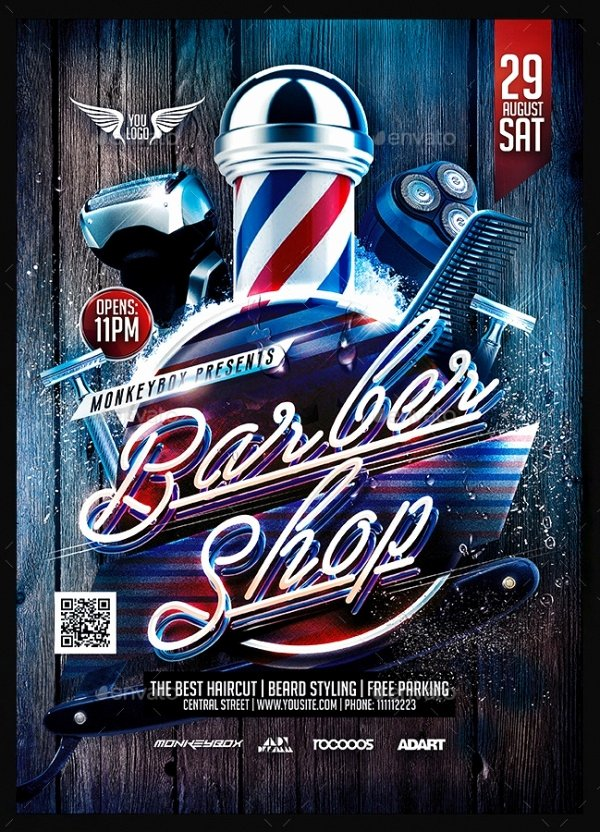 Barber Shop Flyers Template Luxury 28 Creative Barbershop Flyer Designs Word Psd Ai Eps