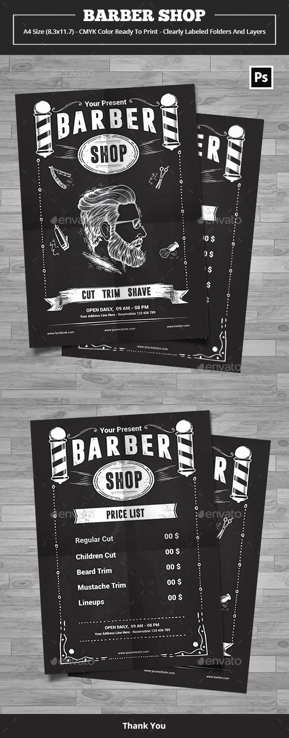 Barber Shop Flyers Template Luxury Barber Shop Flyer Template by Yudha Sbs