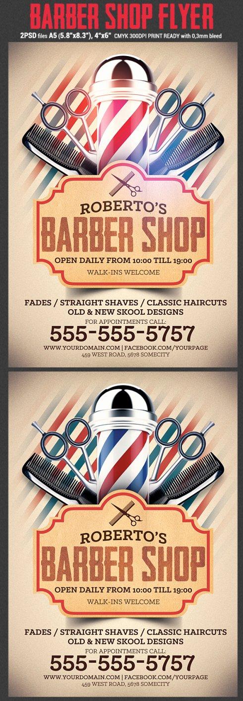 Barber Shop Flyers Template Luxury Barber Shop Flyer Template