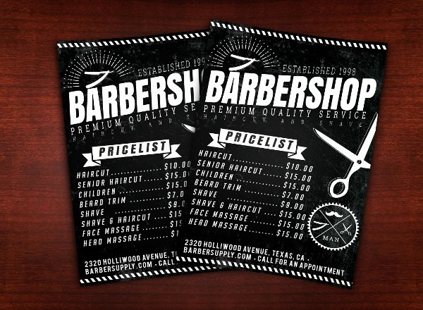 Barber Shop Flyers Template New 18 Barber Shop Flyer Templates Free Premium Psd format